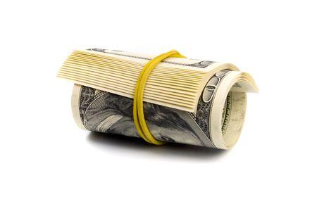 dollar tube on white background Stock Photo - 5023482
