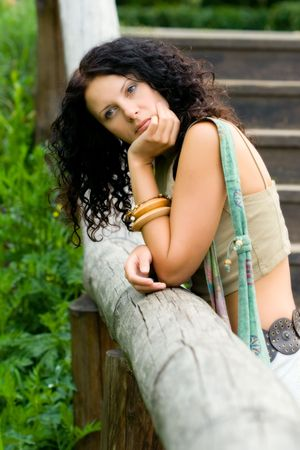 outdoor portrait of a beautiful woman Stock Photo - 5070408