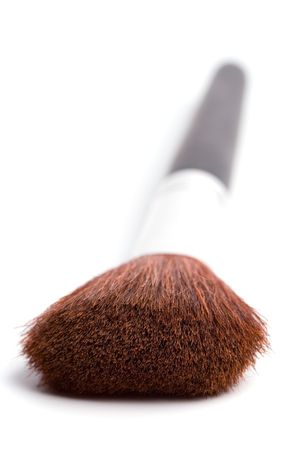 brush for make-up on white background photo