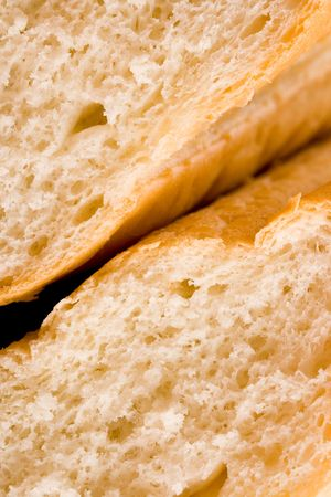 macro of wholemeal bread texture  photo