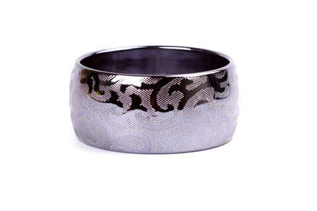 metal bracelet isolated on white background photo