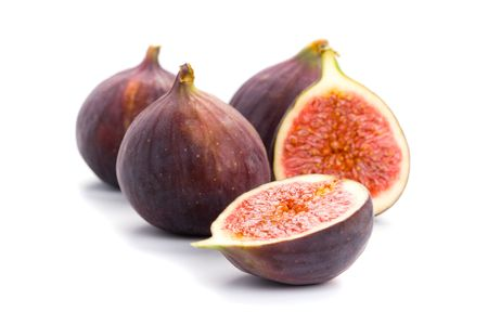 purple fig: fresh figs isolated on white background