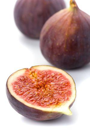 fresh figs closeup on white background photo