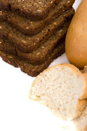 macro image of freshly baked bread photo