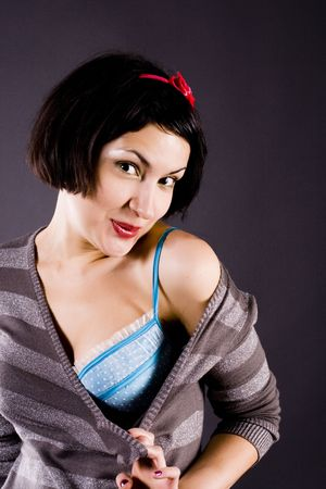 portrait of attractive pin-up girl Stock Photo - 5725482
