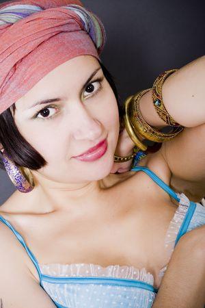 closeup portrait of attractive asian woman Stock Photo - 5912555