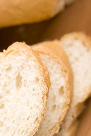 macro image of baguette photo