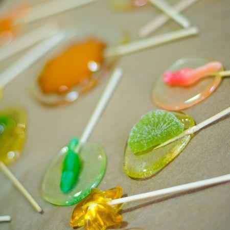 lolli: colorful handmade candy lollipops closeup