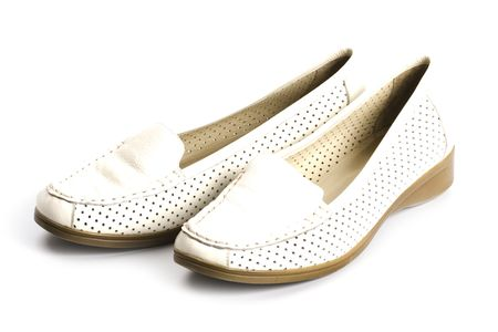 pair of shoes isolated on white background photo
