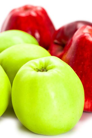 heap of green and red apples closeup Stock Photo - 6070790