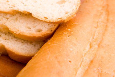 macro image of baguette - background