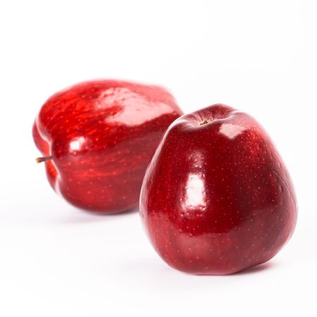 two red apples isolated on white background Stock Photo - 6284082