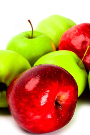 heap of green and red apples closeup Stock Photo - 6284127