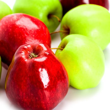 heap of green and red apples closeup Stock Photo - 6349664