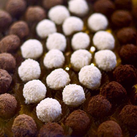 chocolate truffles close up Stockfoto