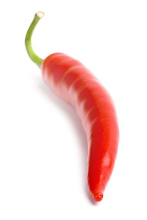 red chili pepper isolated on white background photo