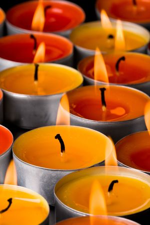 flaming candles on a dark background Stock Photo - 6363658