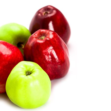 heap of green and red apples closeup Stock Photo - 6400272