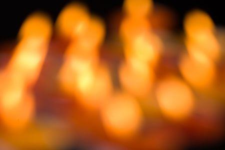 holiday background of sparkling blurred golden lights photo