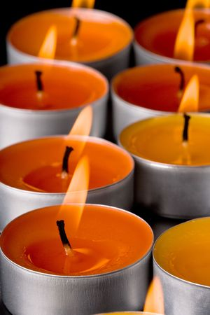flaming candles on a dark background Stock Photo - 6485773