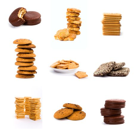 cookies isolated on white background collection photo