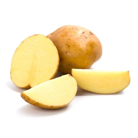 potatoes isolated on a white background  Stockfoto