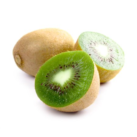 some kiwi closeup on white background photo