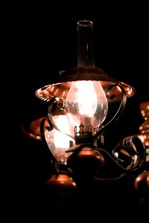 elegant lamp on black background Stock Photo - 7030005