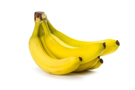 bananas bunch isolated on white background photo