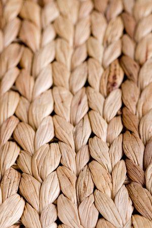 straw mat background - macro image photo