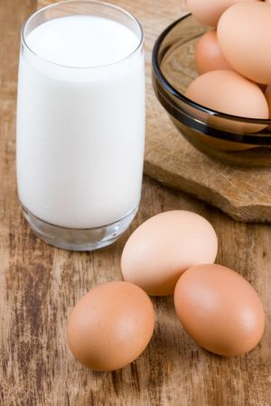 melk glas: