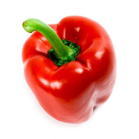 Rode paprika geïsoleerd op witte achtergrond  Stockfoto - 7303719