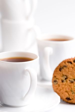 cups of coffee and muffin closeup Stock Photo - 7303718