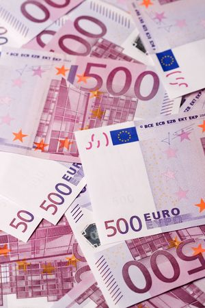 500 euro banknotes background photo