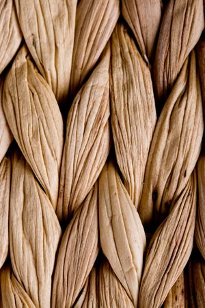 straw mat: straw mat background - macro image Stock Photo