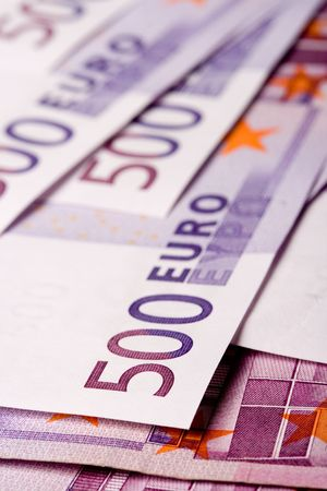 500 euro banknotes background photo