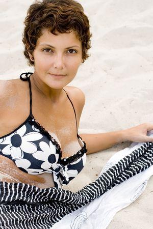 portrait of attractive brunet  photo
