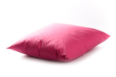 pink pillow isolated on white background  photo