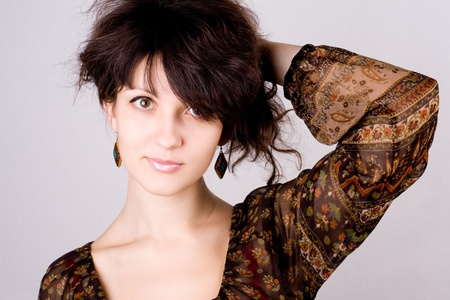 portrait of young beautiful brunette woman Stock Photo - 8316571
