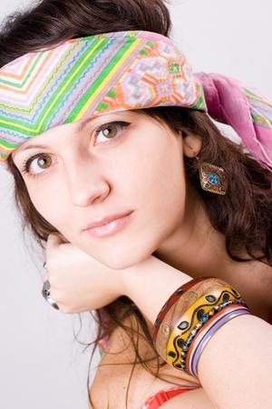 mujer hippie: portarretrato retrato de mujer de hermosa hippie de j�venes