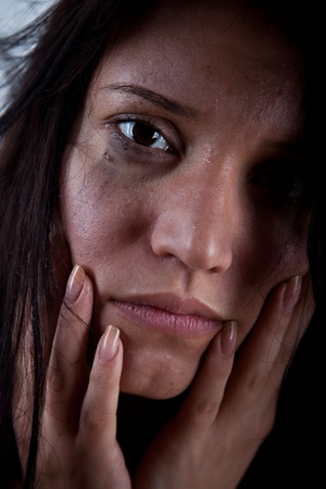 crying young woman, hostage closeup Stock Photo - 9228666