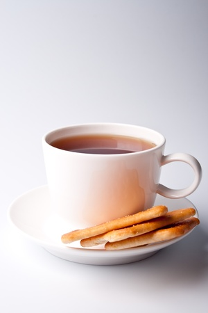 cup of tea and some cookies Stock Photo - 9630922
