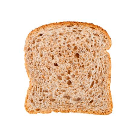 fresh bread slice isolated on white background Stockfoto