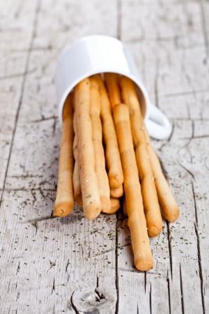 grissini: cup with bread sticks grissini  Stock Photo