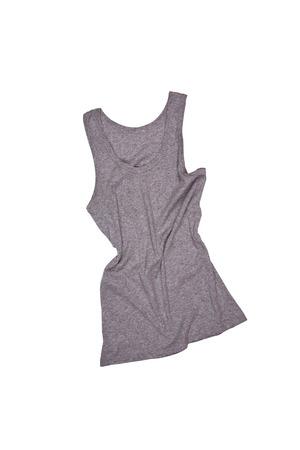 gray shirt isolated on white background  photo