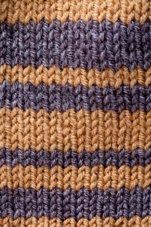 close up macro background of striped knitted texture photo