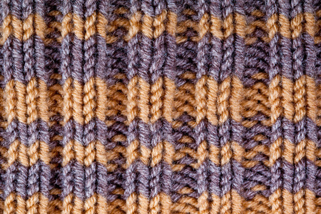 closeup macro background of striped knitted texture photo