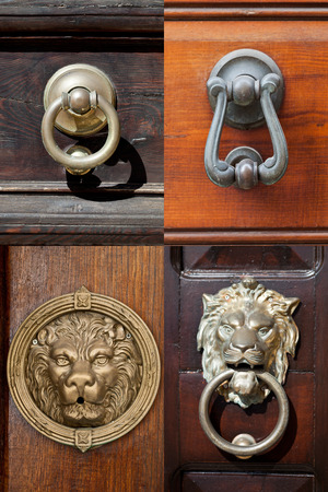 Ancient italian door knockers and handles collection.