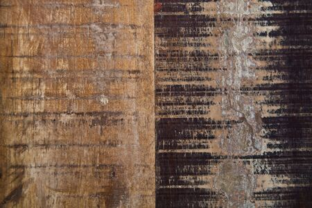 Wooden grunge wooden painted texture. Ancient brown and beige background. Stockfoto