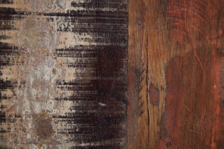 Wooden grunge wooden painted texture. Ancient brown and red background.